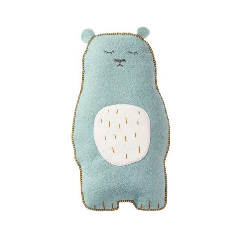 Muskhane Pasu cushion Grizzly - felt & kapok / jade
