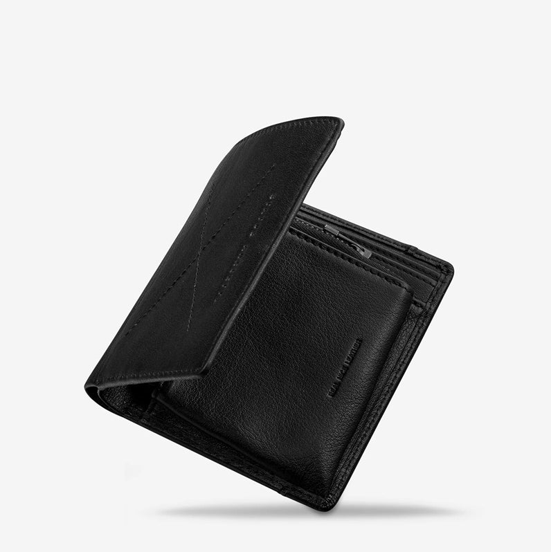 Status Anxiety Clifford Wallet Black