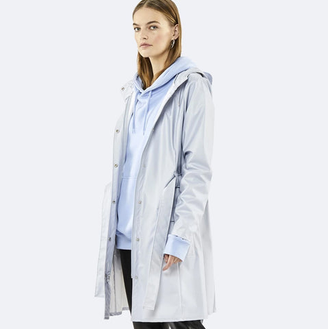Rains Curve Jacket Metallic Grey