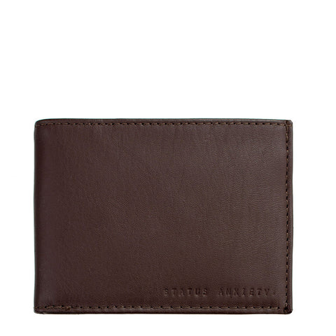 Status Anxiety Noah Wallet - Choc