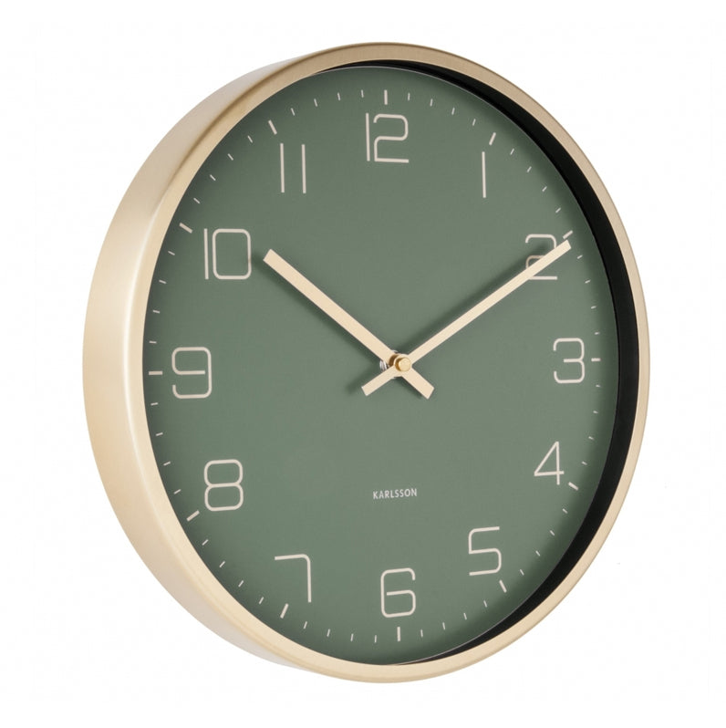 Karlsson Gold Elegance Green Wall Clock