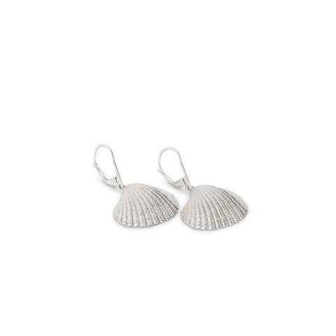 Jasmin Sparrow Clamshell Earrings - Silver