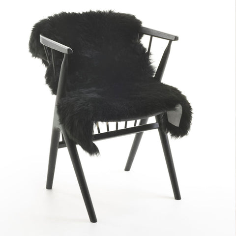 New Zealand Long Wool Sheepskin Black