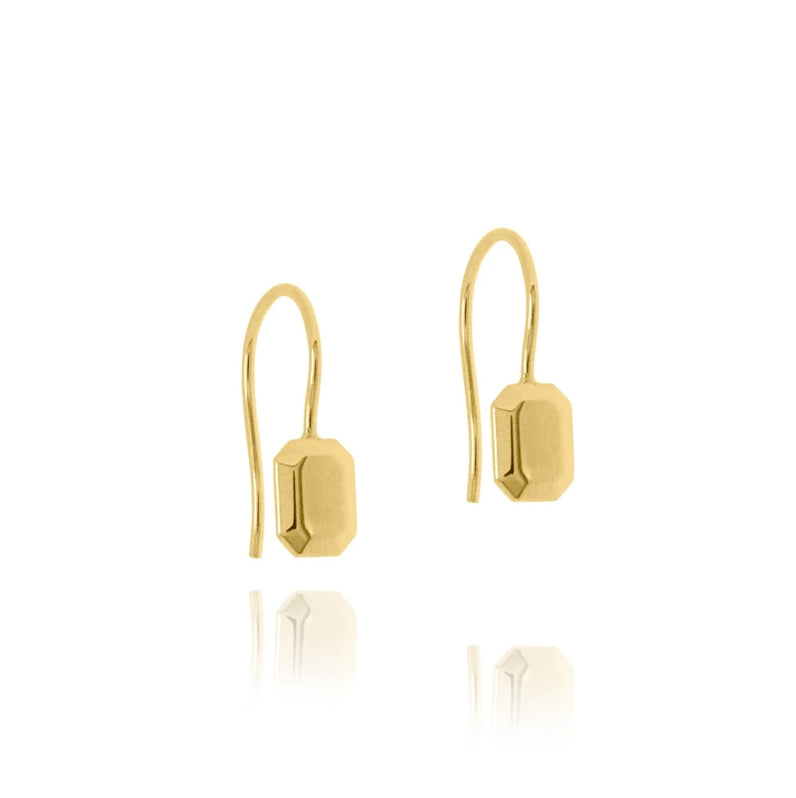 Linda Tahija The Tate Hook Earrings Gold