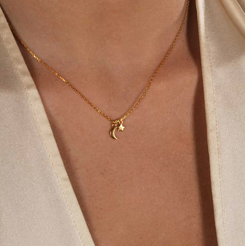 Linda Tahija Star & Moon Necklace Gold