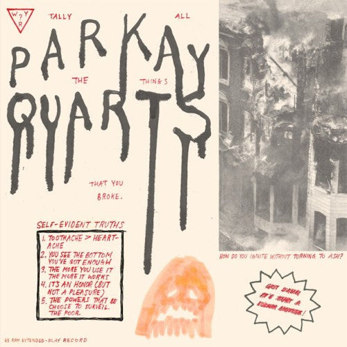 Parkay Quarts, Tally All The Things That You Broke LP