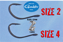 GAMAKATSU SPLIT SHOT/DROP SHOT HOOKS -25 BULK PACK RED