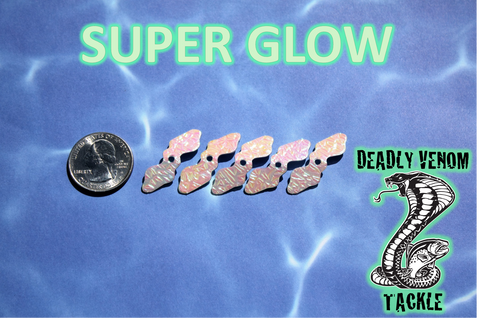 MEDUSA BLADES - LIGHT WEIGHT SPINNER BLADES 5PK- SUPER GLOW