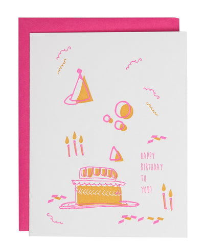 Bday Cake Abstract Card