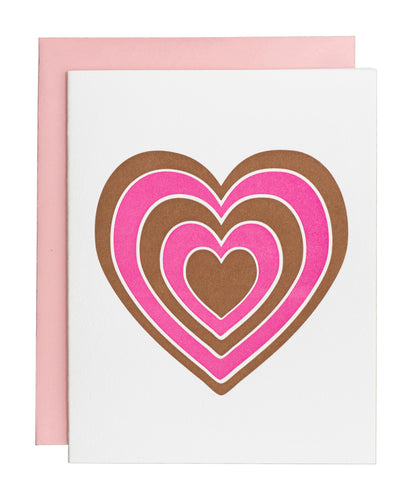 Red and Pink Heart card