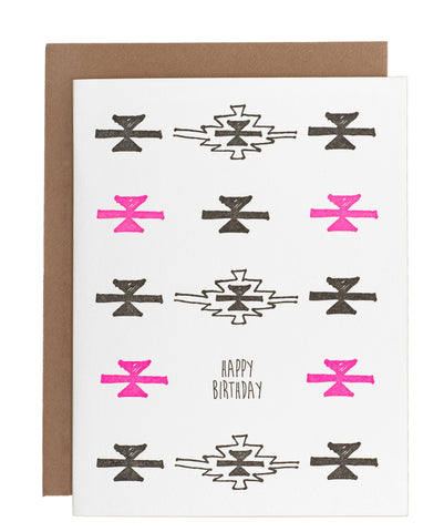 Pink and Black Birthday card