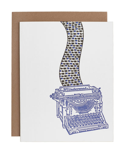 Underwood Typewriter card