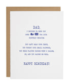 Dad Snail Mail card