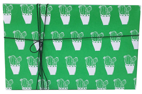 Green Cactus Wrapping Paper