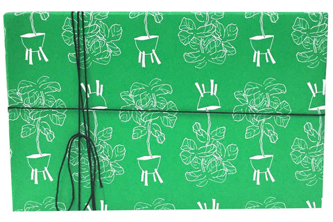 Green Fiddle Leaf Wrapping Paper