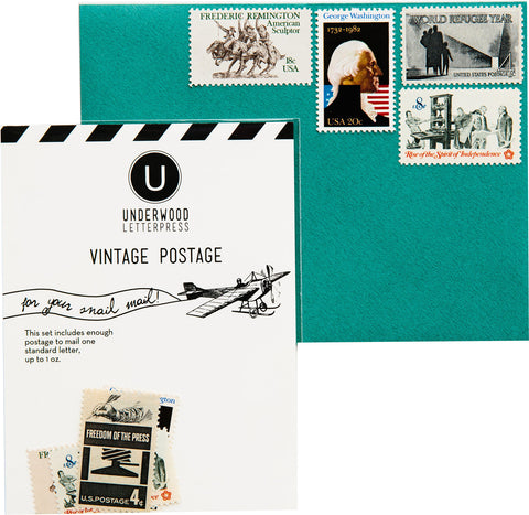 Vintage Postage - Black and White