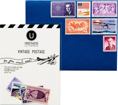 Vintage Postage - Pink, Plum and Red