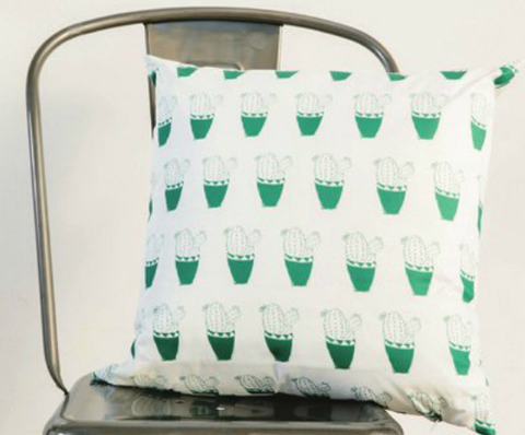 Green Cactus pillow