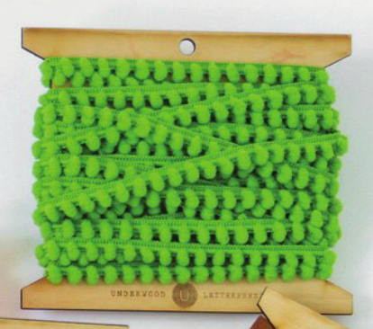 Green Mini Pom Pom Trim
