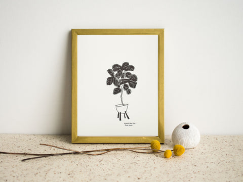 Fiddle Leaf Tree wall art