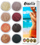 Mineral Loose Powder Makeup Eyeshadow Palette Kit | Pure Organic Natural Pigment Minerals | Everyday Foundation, Concealer, Blush, Eye Shadow, and Contouring Palettes 8 Baby Doll Color, Hues, Shades…