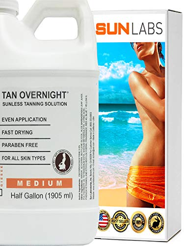 Natural Sunless Solution, Body and Face for Bronzing and Golden Tan (1/2 Gallon)