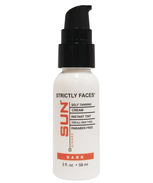 Sun Laboratories Strictly Faces 2 fl oz. - Face Self Tanner - Natural Facial Sunless Tanning Lotion, Face for Bronzing and Golden Tan - Dark Sunless Bronzer Flawless Fake Tanning Gel Lotion