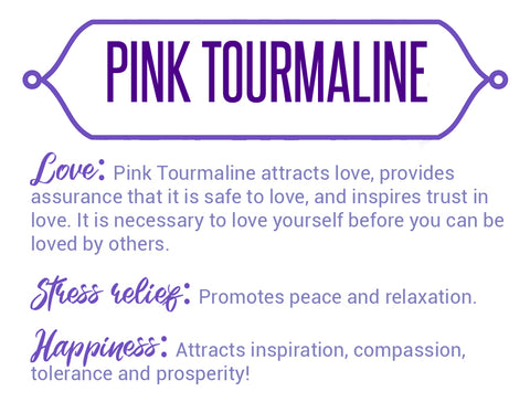Pink Tourmaline Gemstone Jewelry For Women