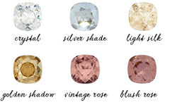 bridal jewelry stone colors
