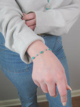 Load image into Gallery viewer, Teal: Turquoise Bracelet - b266