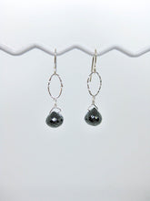 Load image into Gallery viewer, Chrysanthe: Black Spinel Earrings - e472