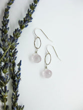 Load image into Gallery viewer, Chrysanthe: Rose Quartz Earrings - e473