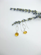 Load image into Gallery viewer, Chrysanthe: Citrine Earrings, Small - e474s