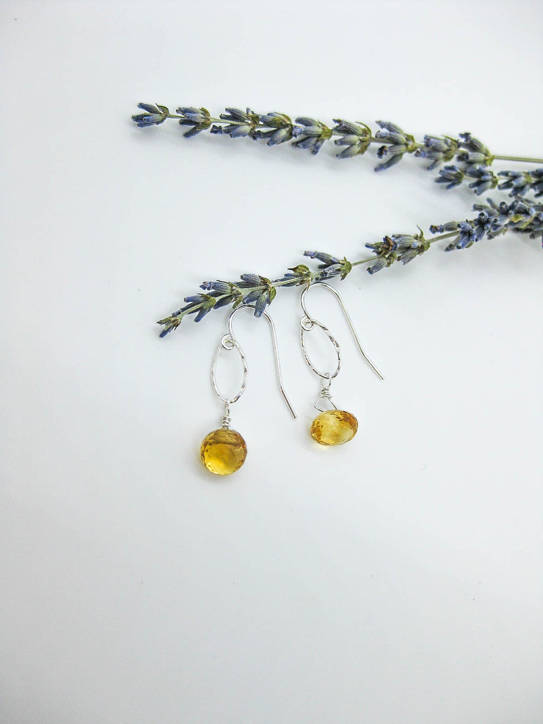 Chrysanthe: Citrine Earrings, Small - e474s