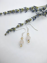 Load image into Gallery viewer, Dahlia: Rose Quartz Earrings, Small - e476s