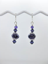 Load image into Gallery viewer, Dahlia: Amethyst Earrings, Small - e477s
