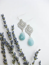 Load image into Gallery viewer, Eliza: Amazonite Earrings - e482