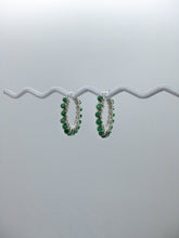 Load image into Gallery viewer, Jade Hoop Earrings - e510