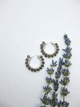 Load image into Gallery viewer, Smoky Quartz Hoop Earrings - e522