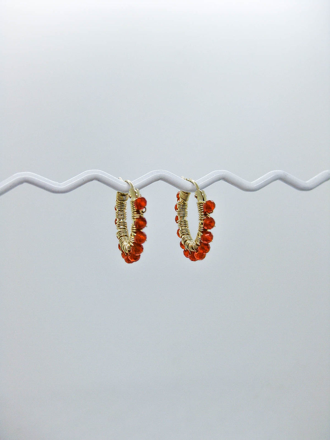 Carnelian Hoop Earrings - e524