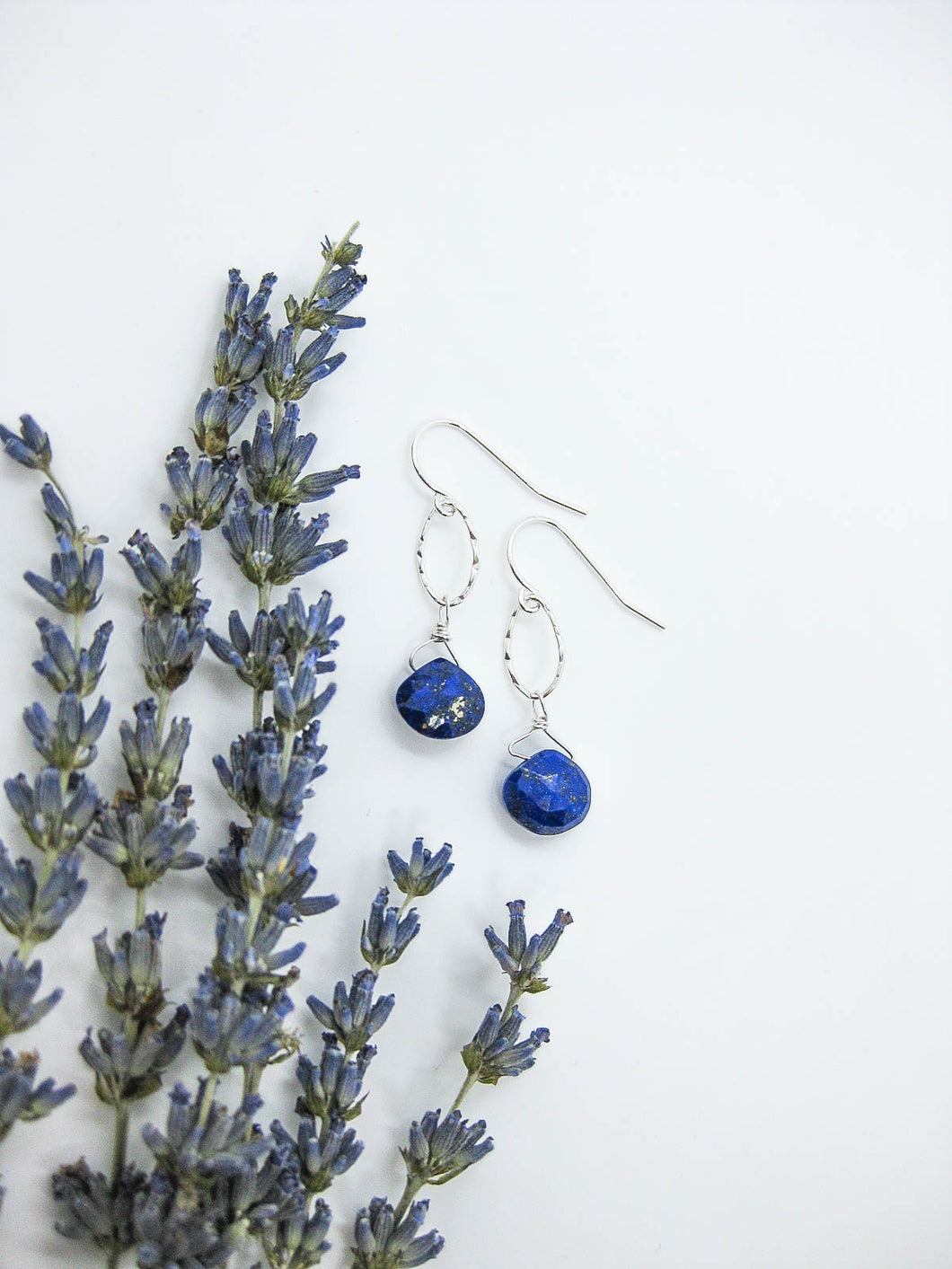 Chrysanthe: Lapis Earrings - e531