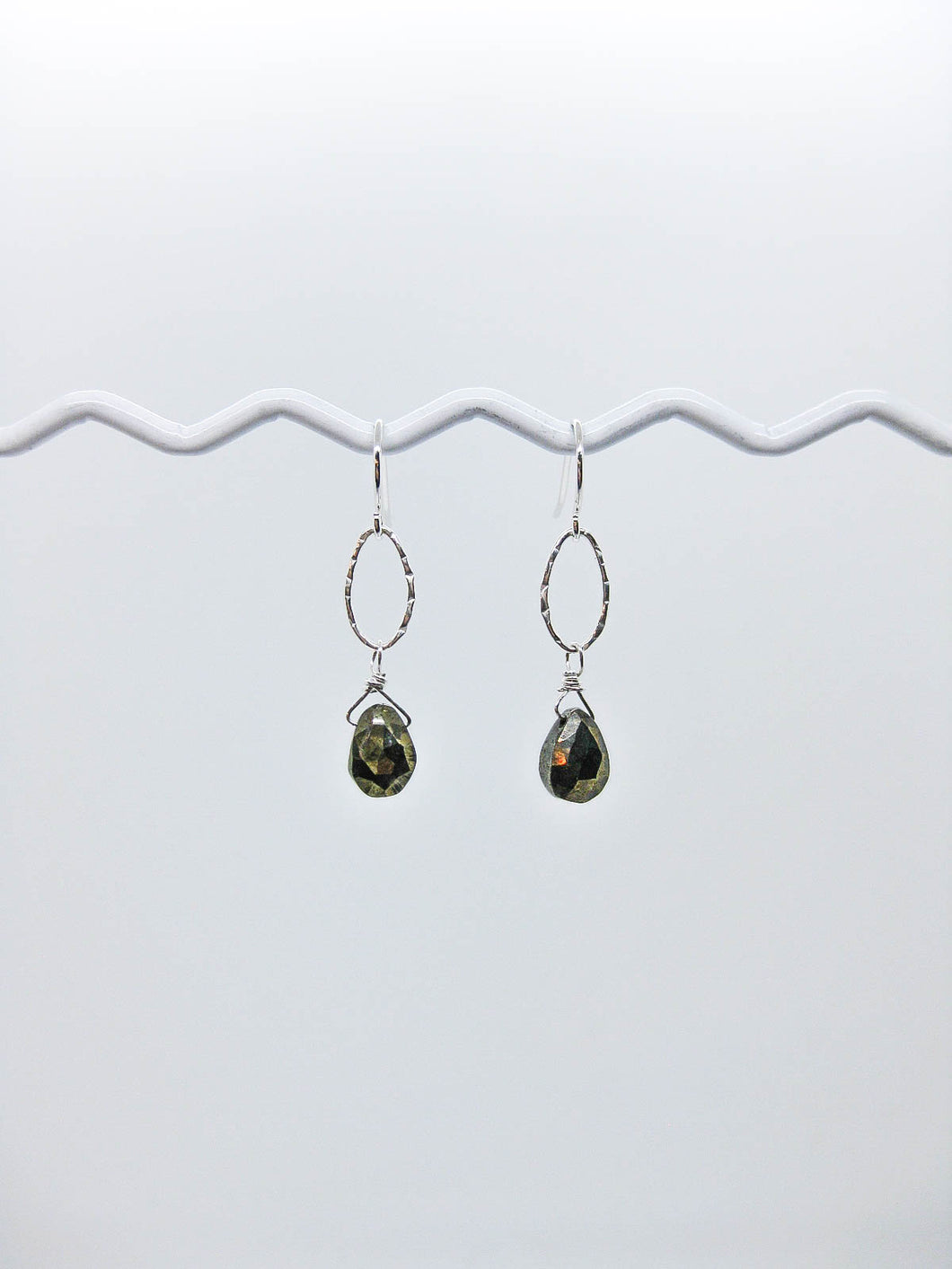 Chrysanthe: Pyrite Earrings - e532