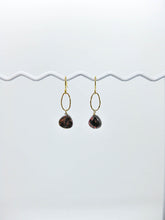Load image into Gallery viewer, Chrysanthe: Garnet Earrings - e534