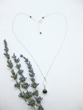 Load image into Gallery viewer, Chrysanthe: Black Spinel Necklace - n401
