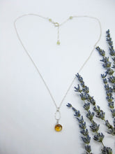 Load image into Gallery viewer, Chrysanthe: Citrine Necklace - n403