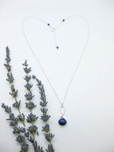 Load image into Gallery viewer, Chrysanthe: Lapis Necklace - n404