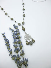 Load image into Gallery viewer, Olive: Pyrite Long Pendant - n449