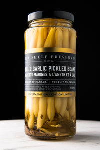 Dill & Garlic Pickled Beans Top Shelf Preserves!