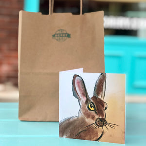 Yellow eyed rabbit Cards By Francie - Creatures of Habit-at