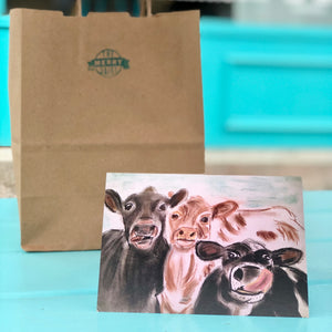 Cows in a crowd Cards By Francie - Creatures of Habit-at
